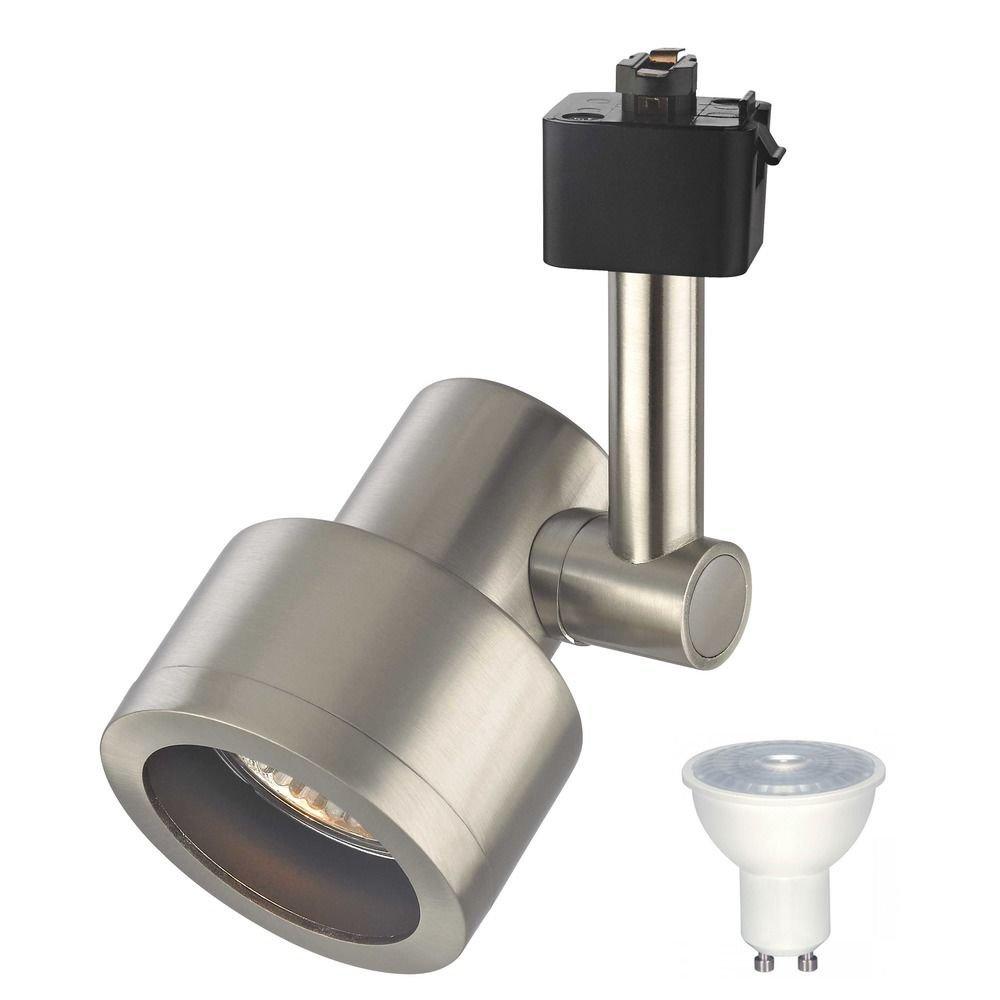 Satin Nickel LED Track Head Light for Juno Track System 2700K 500 Lumens