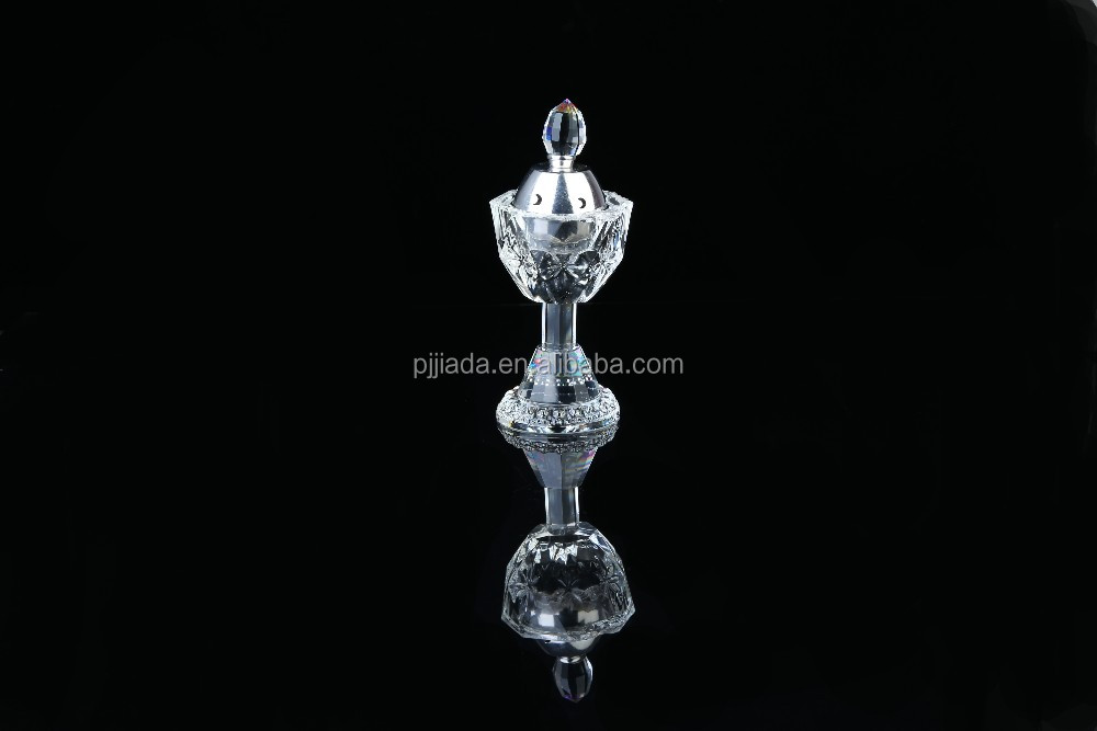 china factory  arabic  incense Burner K9 crystal censer  for home \office  desk  decoration and business souvenir gift