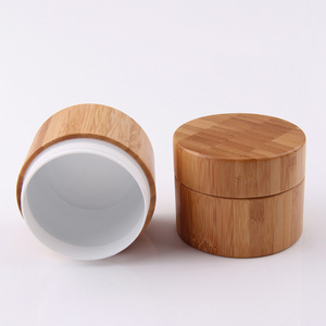 bamboo cream jar cosmetic face cream wooden container for facial serum