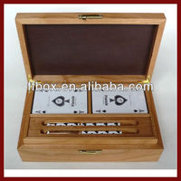 Handcrafted Wooden Custom Storage Box For Pen and Poker