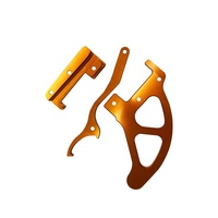 Custom Design Fabrication Orange Color Anodized CNC Machining Chamfered Aluminum Parts For New Energy Automobile