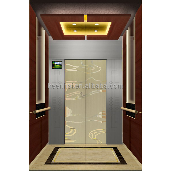 Interior Stainless Steel Etching Pattern Elevator Cabin ...