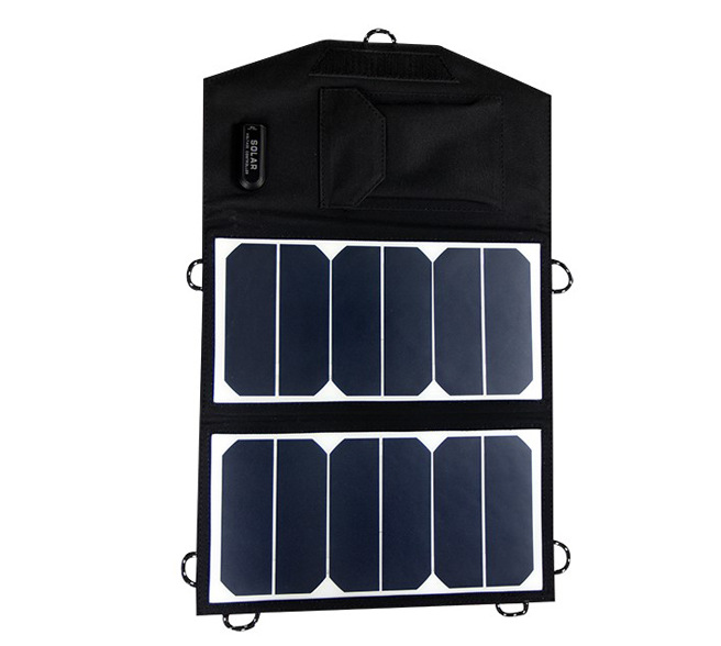 Hot Sale 13W 5V Portable power bank folded Monocrystalline silicon solar Charger USB for iphone, android phone,digital camera