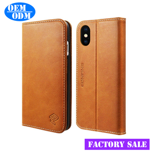 Full Grain Leather Mobile Phone Case for iPhone 8 7 6 Shockproof, Top Grade Leather Key Card Holder Case for iPhone 7