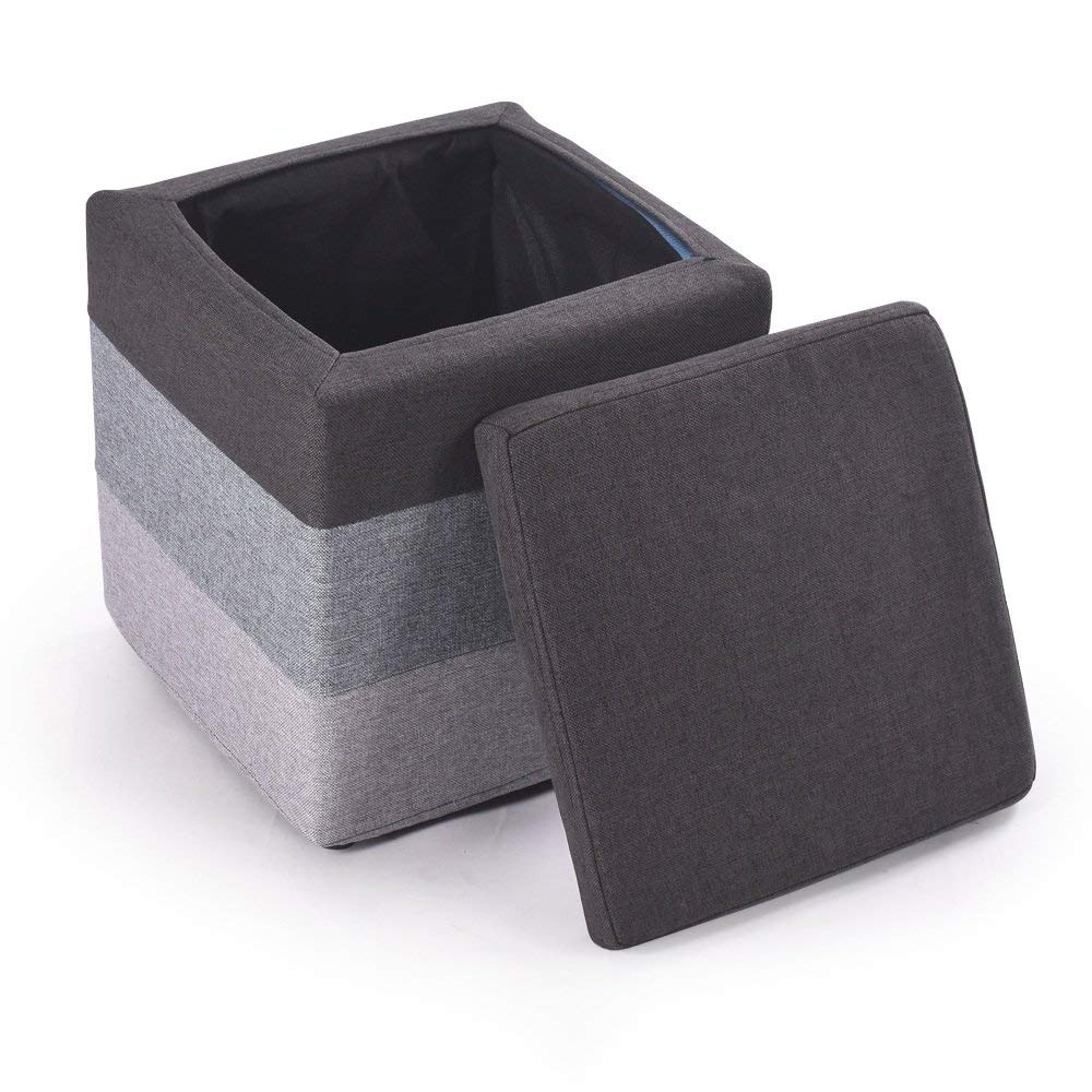 ZZHF dengzi Creative Footstool/Cloth Sofa Stool/Changing His Shoes Stool/Simple Storage Stool (4 colors available) (Color : B)