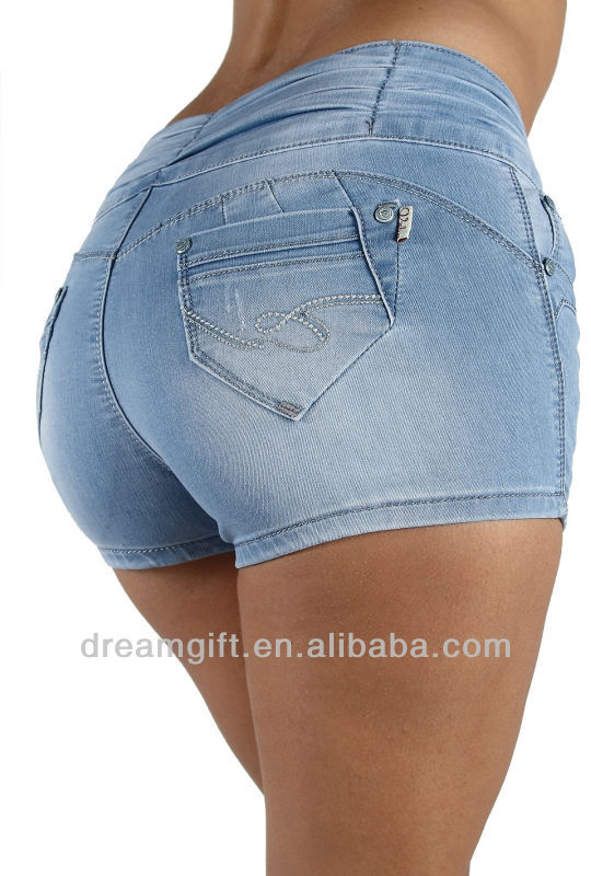Style YH1037 High Waist Colombian Style Stretch Design Butt lift Shorts Shorts