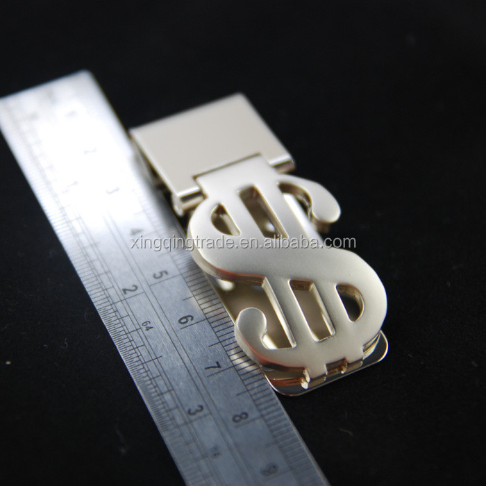 Stainless Steel Silver Money Clip Holder Dollar Pattern Slim Pocket Cash ID Credit Card Metal Clips