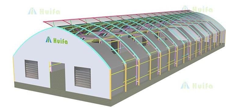 Зеленый дом сельскохозяйственная гидропонная теплица для продажи