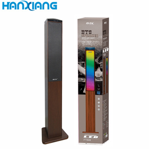 Good Stereo Sound 2.1 Home Audio Tower Speakers for Mobile Phone , Vertical Amplifier Speakers with Remote Control