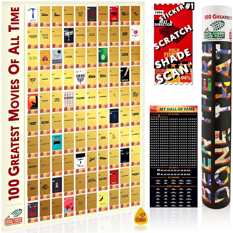 100 Greatest Movies Scratch Off Poster Interactive Movie Posters Bucket List Gifts Movie Theater Room Decor Living Room Decor View 100 Greatest Movies Scratch Off Poster Interactive Movie Posters Bucket List Gifts