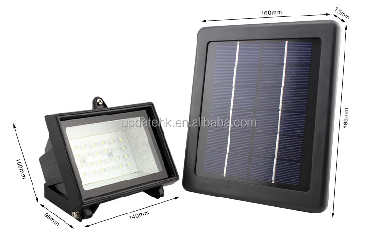 Cool White Warm Wight Outdoor 40pcs Powerful Solar Led Flood Light ...