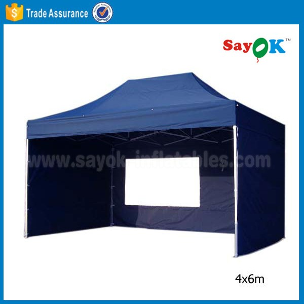 4x6 Aluminum Gazebo Tent Canopy Flat Top Folding Canopy Tent For Sale