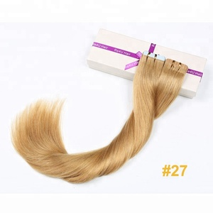 Best Selling 6a 7a 8a quality 100% human hair made in china cheap tape hair extension