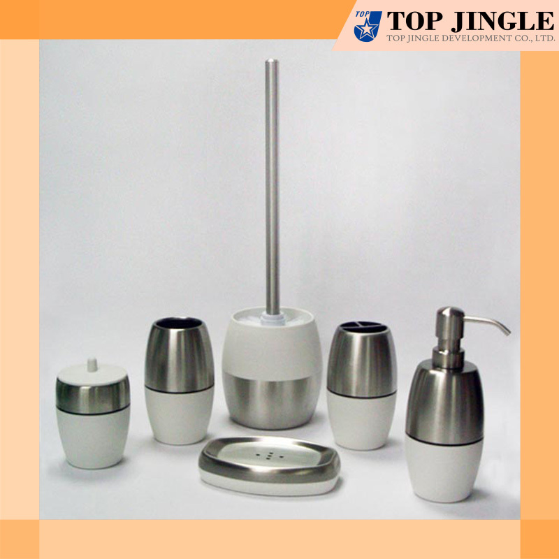 Unusual Bathroom Accessories: High Quality Unique White Stainless Bath Accessories Set
