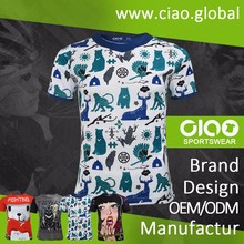 Ciao sportswear Online shopping sublimation printing philip plain t shirt for adult