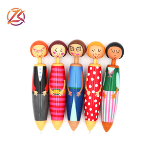 Novelty cartoon cut sunny doll fat ballpoint pen office supplies pressed ballpoint pen Custom advertising pen