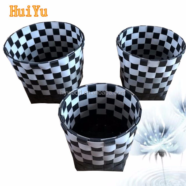 Double Color Rope Cheap Woven Laundry Basket Wholesale