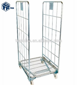 NESTABLE ROLL CAGE CONTAINER 2 SIDES