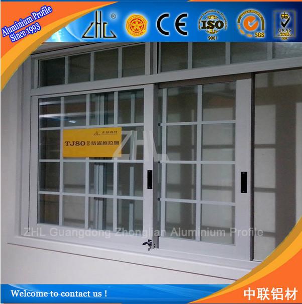 6063 T5 Aluminium Window With Security Shutter / Aluminium Burglar ...