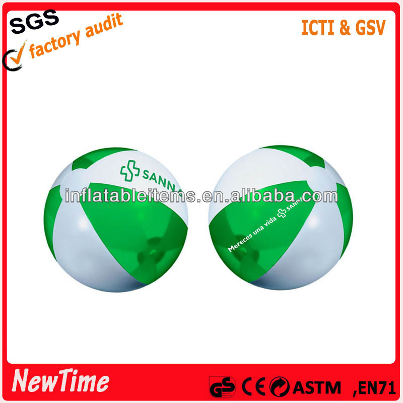 Promotional transparent ball pvc plastic beach ball