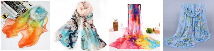 Digital printing Trade Assurance silk shawls scarves