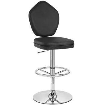 high back swivel bar stool with back