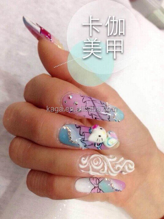 Kaga nails spa 3d gel nail art nails 3d design nc26 for 3d nail art salon