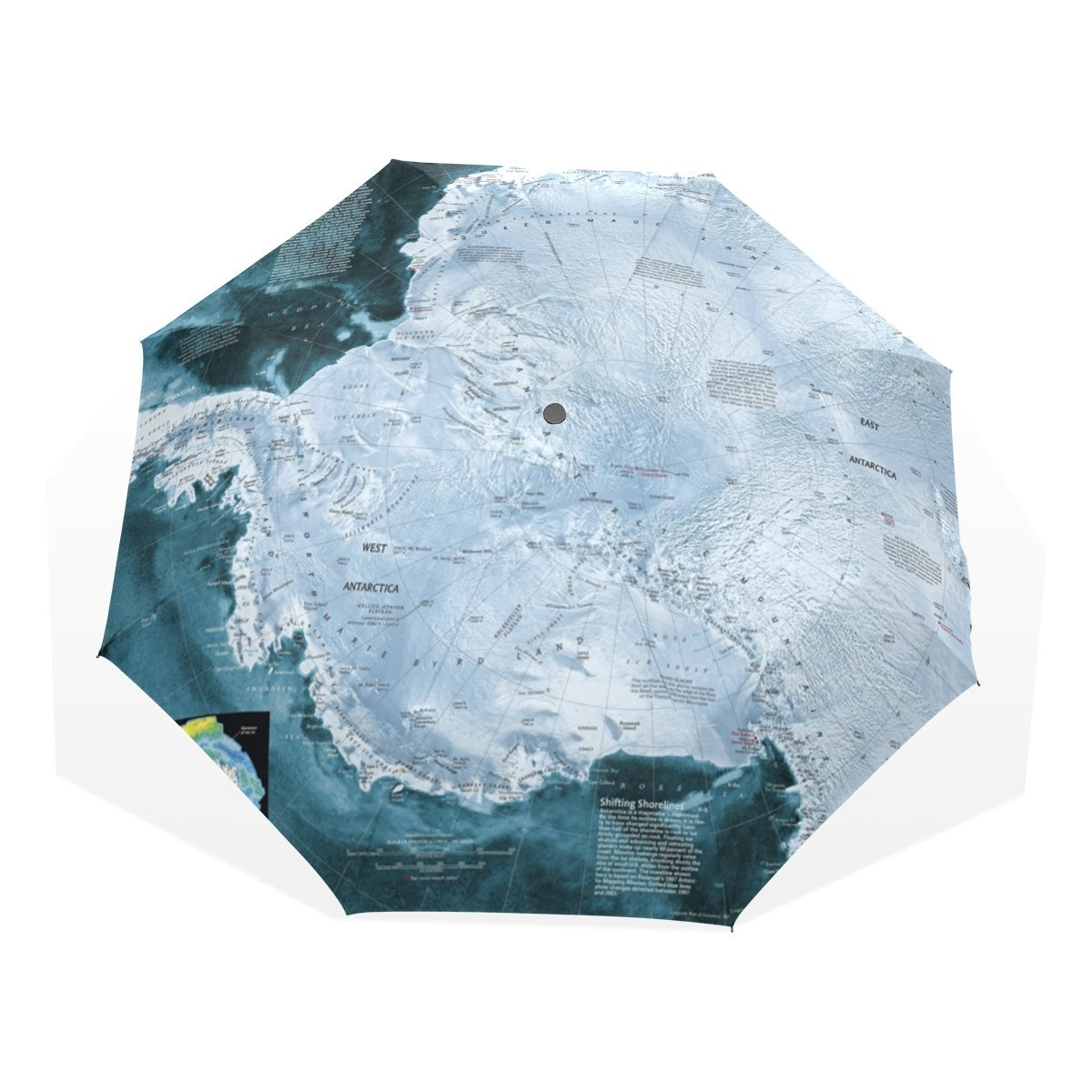 HMWR World Map Umbrella Windproof Compact Light Blue Airflow Trajectory Fashion Weather Enthusiast Like World Map Fashion World Map Folding Travel Rain Umbrella