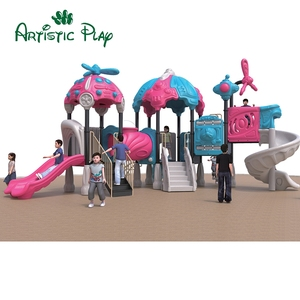 Durable Kids Plastic Slide Outdoor Playground Entertainment Equipment For Sale