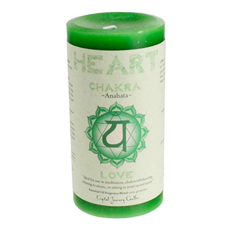 CHAKRA Meditation Candle Crystal Journey CANDLES Pillar