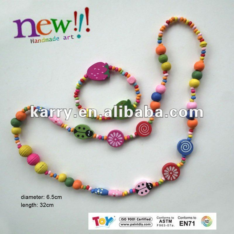 BEADED NECKLACE DIY BEAUTIFUL JEWELRY FOR CHILDREN AND GIRLS ARTWARE NEW HANDMADE ART