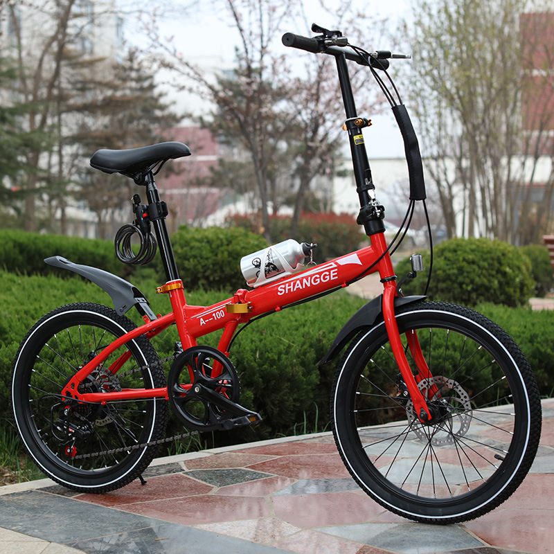 16 inch 20 inch 6 speed disc brake folding portable bike for student and adult