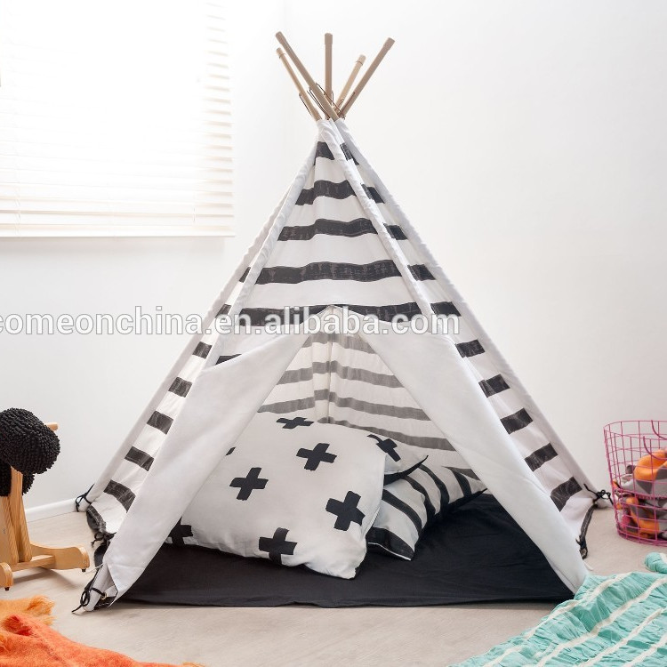 Custom Printed Wooden Children Teepee Play Tent