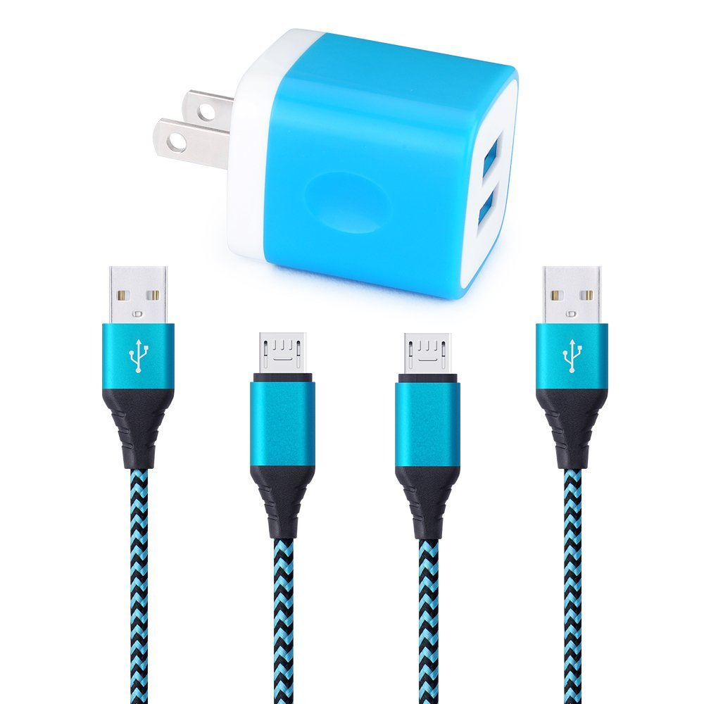 Buy 2 Pack 6 5 Ft Extra Long 2 1A Rapid Micro USB Cable for