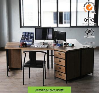 Industriellen Loft-stil,Büromöbel,Massivholz Bürotisch,Schreibtisch ...
