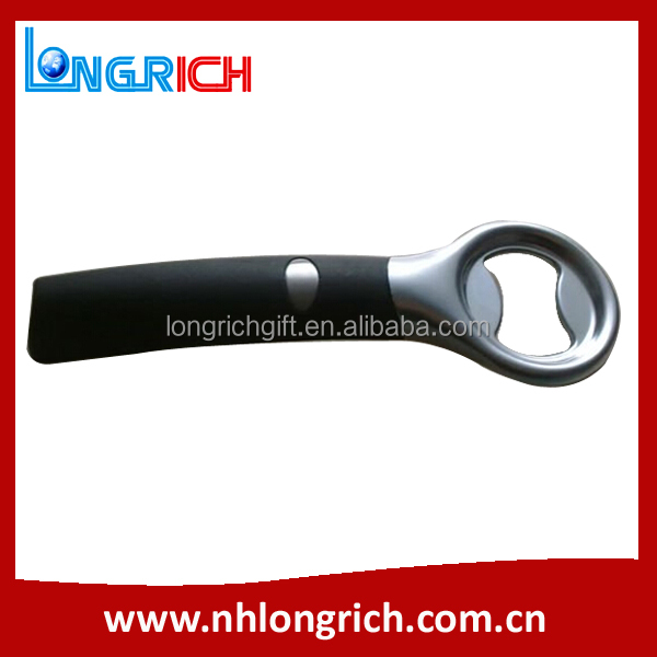 Stainless Steel Bottle Opener,PVC cover, With Logo