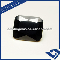 AAA Black Diamond Cut Corner Created Cubic Zircon 4*6mm