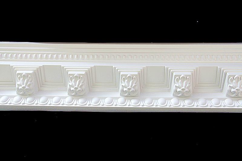 Pu Foam Polyurethane Decorative Cornice / Crown Molding