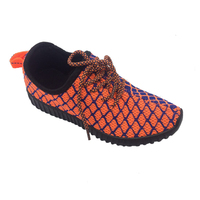 Double color Men Summer Loafers Lace-up Walking Breathable Fly knit injection Shoes