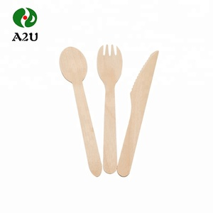 FSC Wholesale Compostable Disposable Wooden Biodegradable Cutlery