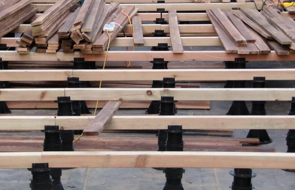 Timber Joist Deck And Wpc Decking Pedestal Floor Support
