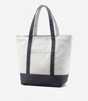 7984ce576514 Extra Large Heavy Duty Cotton Canvas Tote Bag With Outer Pocket ...