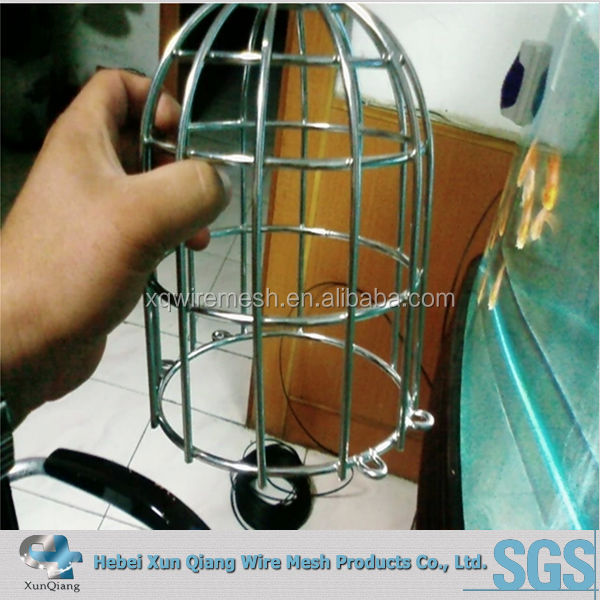 stainless steel wire mesh light cover for protecting lamp