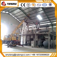 waste engine oil filter recycling machine tyre oil distillation plant