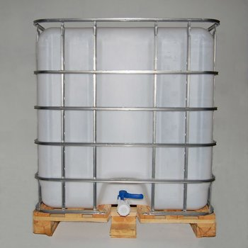 ibc water tank container 1000l on a wooden pallet buy ibc product on. Black Bedroom Furniture Sets. Home Design Ideas