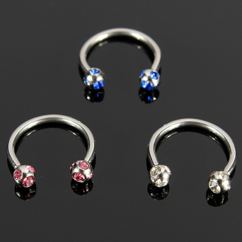 Free body jewelry samples fashion diamond circular horseshoe.