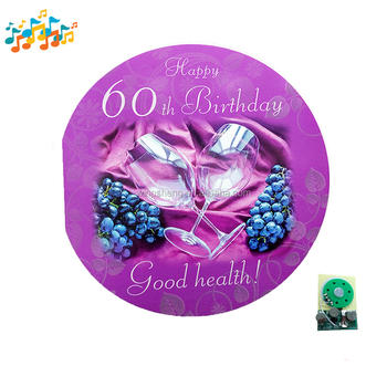 Happy Birthday Design OEM Music Greeting Card With Chip
