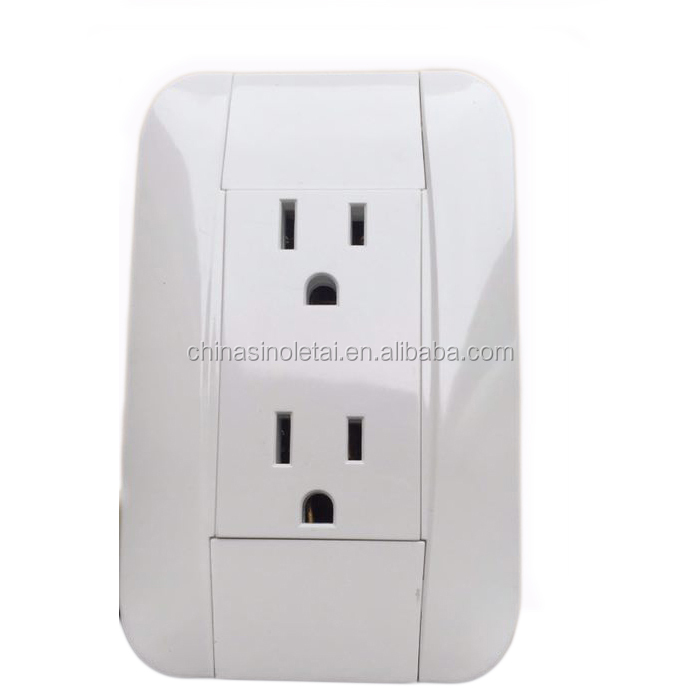 15A america US wall socket 6pin TOMACORRIENTE DOBLE AMERICANO