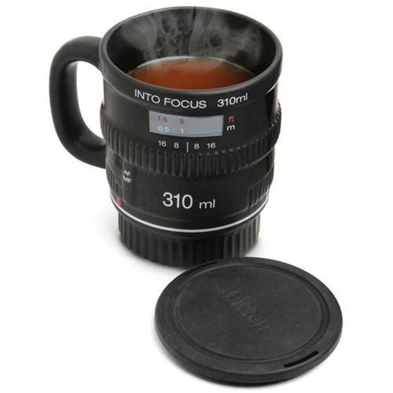 Creative design ceramic lens cup