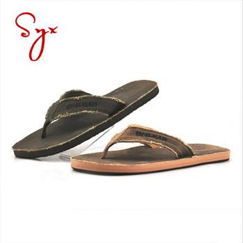 9039fba3e Eva Fabric Thong Flat Man Sport Custom Summer Chinese Slipper - Buy ...